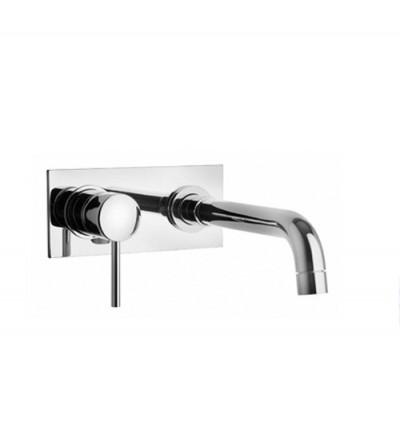 Miscelatore lavabo a muro con piastra Piralla Essenza 0ES00497B16