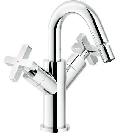 Bidet mixer with swivel spout Nobili Lira LR116219/2CR
