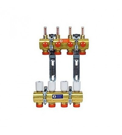 Preassembled manifold kit with flow meters Giacomini R553F