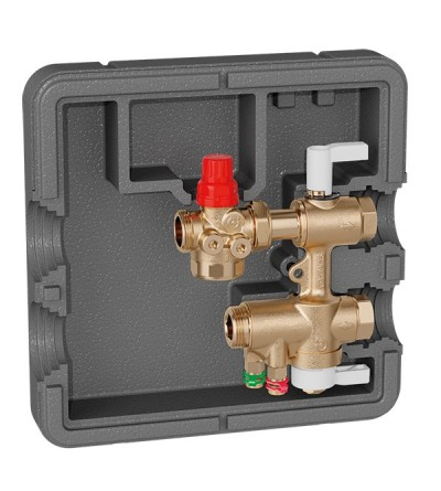 Connection and regulation kit for HVAC terminal units Caleffi 149