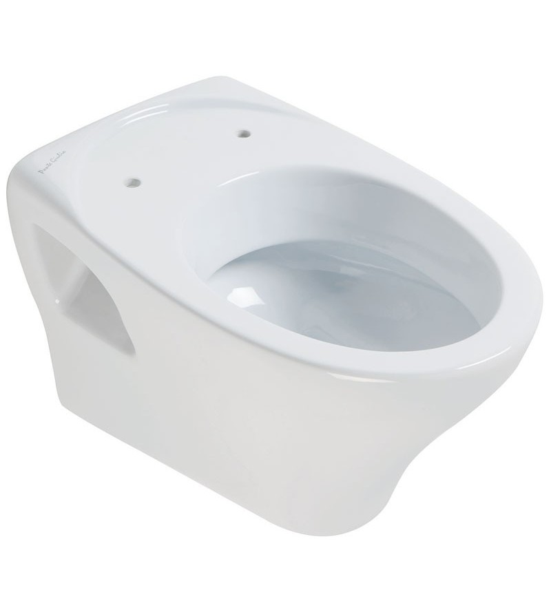 Suspended toilet with front...