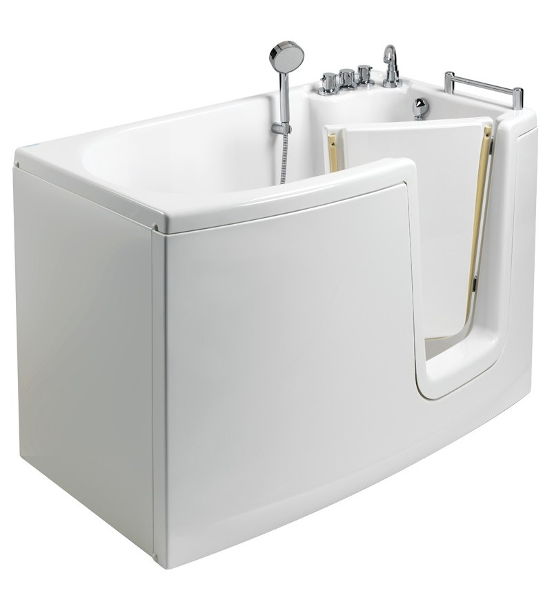 Bathtub with inward opening...