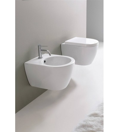 Wall-mounted WC Scarabeo Moon 45 Clean Flush Hung WC 5524/CL