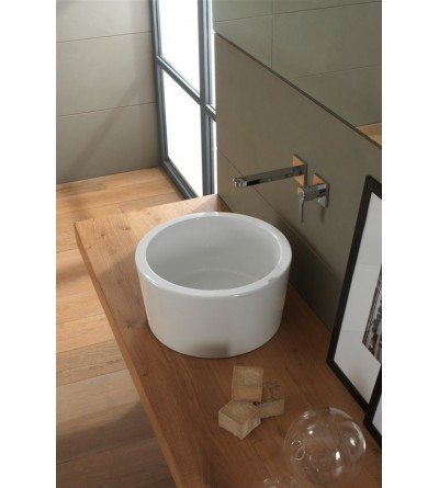 Lay-on washbasin Scarabeo Bucket 42 H22 8807