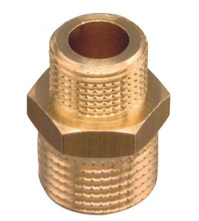 Brass Pipe Fitting Hex Nipple Reducing FP Pattaroni F002