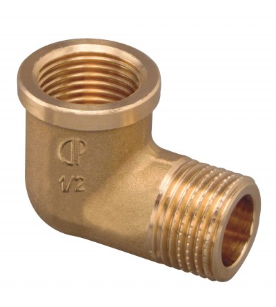 Thread Pipe Elbow Male x Female brass FP Pattaroni F004