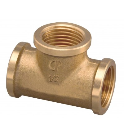Brass threaded fitting tee FP Pattaroni F005