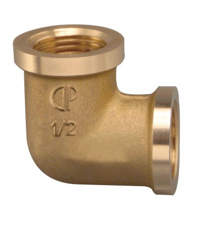 Thread Pipe Elbow Female x Female brass FP Pattaroni F006
