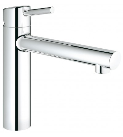 "single lever kitchen mixer 1/2"", front of window installation Grohe Concetto 31210001"