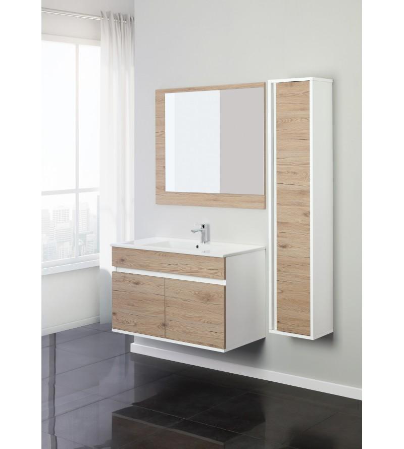 Mobile bagno sospeso 90 cm Feridras fabula 801012 - Rubinetteria Shop