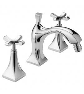 Three holes bidet mixer with spout and pop-up waste Effepi CHIC 7 CENTO 43081