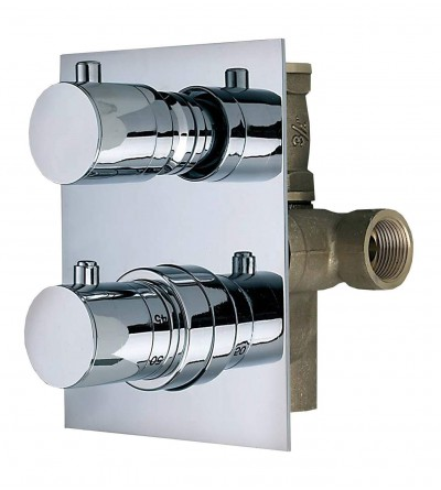 Built-in thermostatic mixer ½ with 2/3 - way diverter Thermomat TMTI12D2ML