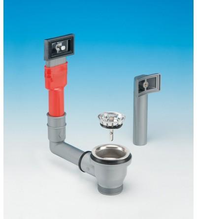 Desagüe para lavabos de acero inoxidable con orificio de Ø 60 LIRA 1754TPR