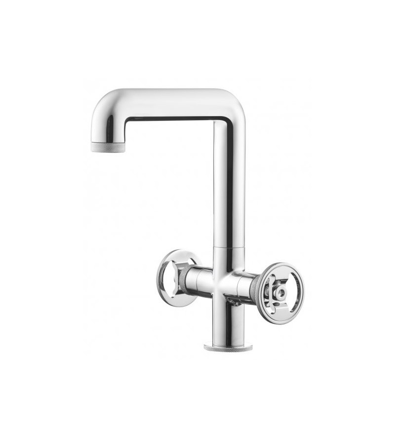 Miscelatore lavabo alto 2 leve Ib Rubinetti KB1205