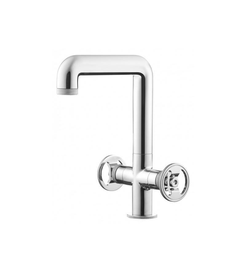 Miscelatore lavabo alto 267 mm con due leve di azionamento IB Rubinetterie Bold Round B1205CC