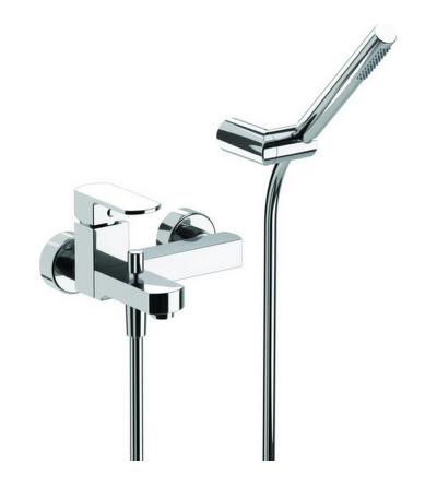 Exposed bath mixer with shower set DADO HUBER DD000120