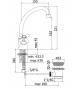 Single hole sink Paffoni IRIS IRV / VLV 078 / 077 / 076