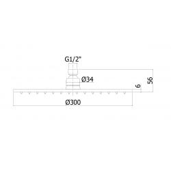 Duschkopf BRAUSE PAFFONI STEEL ZSOF113AC