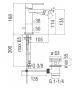 single lever bidet mixer  nobili loop LP90119/1
