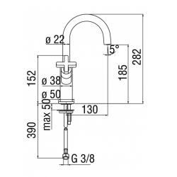 Wash basin mixer with swivel spout Nobili Lira LR116218/3CR