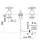 rubinetto bidet batteria 3 fori nobili grazia GRC5015/1