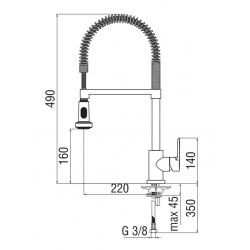 Miscelatore cucina monocomando Nobili New Road RD00300/3CR