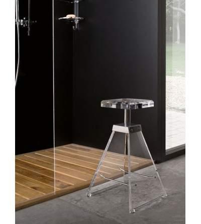 Plexiglass stool TL.bath Luce K129/C/TR