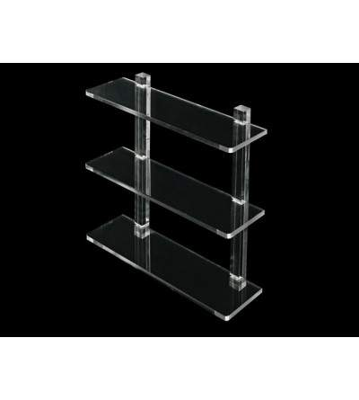 Shelf with plexiglass shelves TL.Bath Luce L001/40