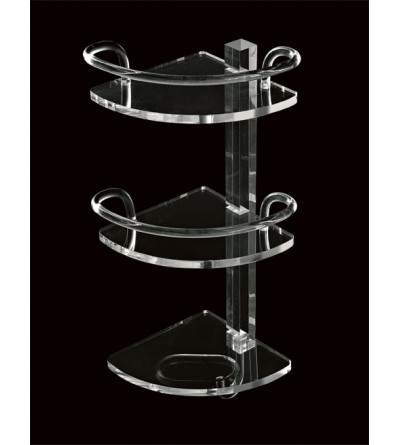 Corner shelf in plexiglass TL.Bath Luce L004