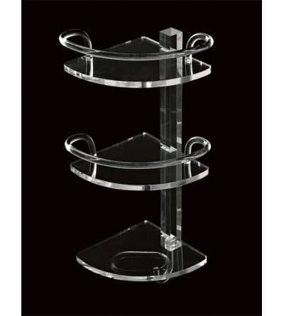 Mensola angolare in plexiglass TL.Bath Luce L004