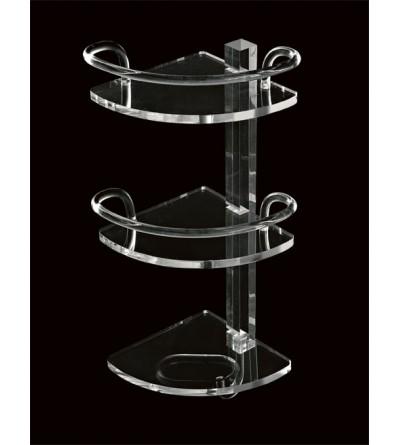 Mensola angolare in plexiglass TL.Bath Giglio 604
