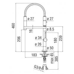 miscelatore lavello cucina MOVE NOBILI MV92300/50CR
