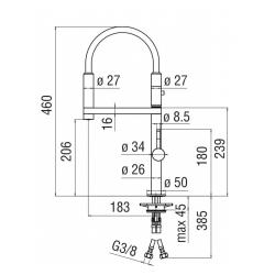 miscelatore lavello cucina MOVE NOBILI MV92400/50CR