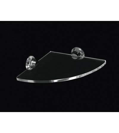 Mensola angolare in plexiglass TL.Bath Luce L009