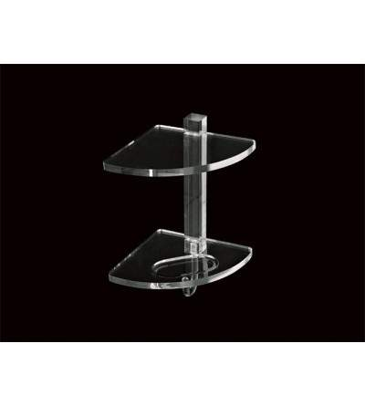 Two-tier corner shelf in plexiglass TL.Bath Luce L005