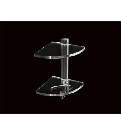 Mensola angolare due piani in plexiglass TL.Bath Giglio 605