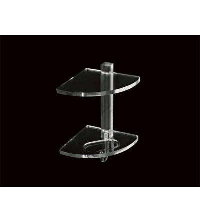 Two-tier corner shelf in plexiglass TL.Bath Giglio 605