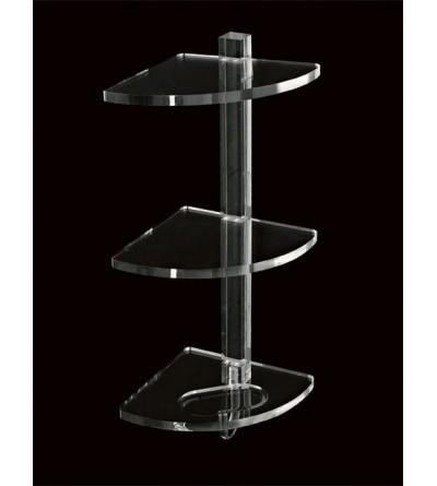 Mensola angolare tre piani in plexiglass TL.Bath Giglio 606