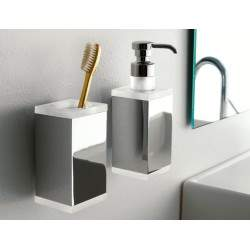 wall-mounted liquid soap...