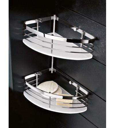 Corner shelf for shower 2 shelves TL.Bath For.Box 1303DX-1303SX