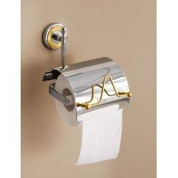 Covered wall paper holder...