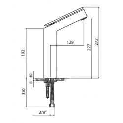 Rubinetto miscelatore alto per lavabo Mamoli Euclide  4856