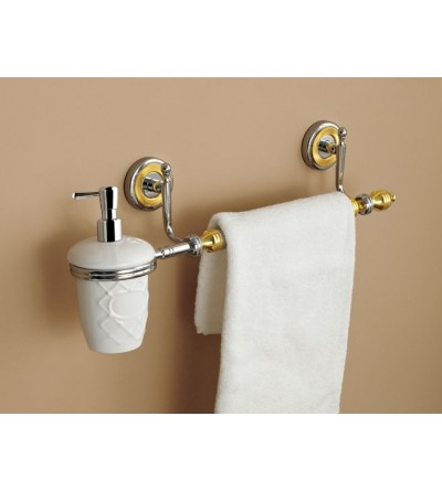 Liquid soap dispenser with towel rail TL.Bath Queen 6648