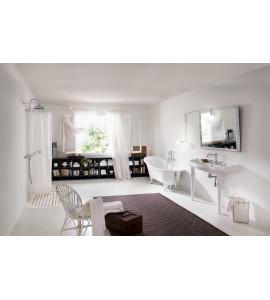 box doccia angolo due lati con ante a soffietto