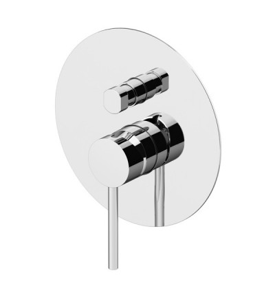 Shower mixer for concealed installation with 2 outlets diverter Gattoni Circle One 9034