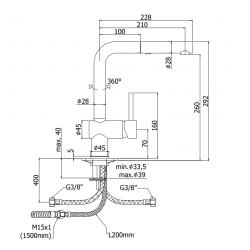 Miscelatore lavello Paffoni Lig 285-MET