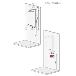 Shower Column Equipped Novellini Flow