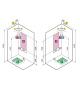 cabina doccia Holiday crystal novellini 2 A 100X70