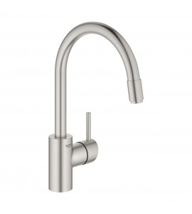"Grohe Concetto single lever kitchen mixer 1/2"", pullout mousseur spout chrome 32663001"