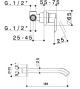 RAF Rubinetterie - serie Fizzy FZ20 Miscelatore a parete senza scarico con bocca 21 cm